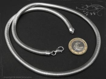 Schlangenkette oval D6.0L85 massiv 925 Sterling Silber