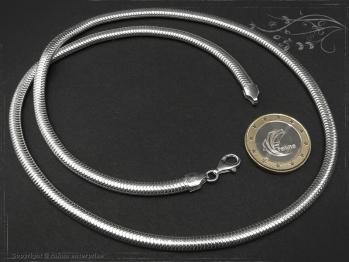 Schlangenkette oval D4.5L90 massiv 925 Sterling Silber