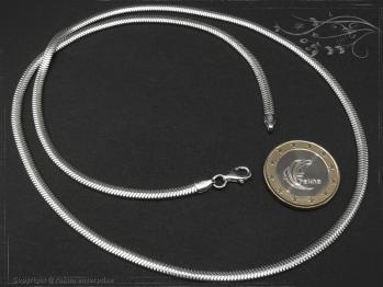 Schlangenkette oval D3.5L90 massiv 925 Sterling Silber