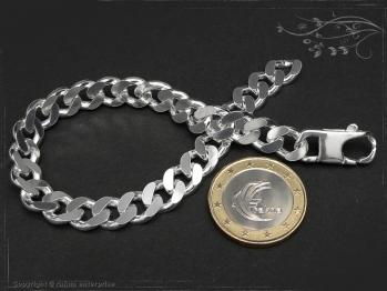 Panzerarmband B8.0L25 massiv 925 Sterling Silber