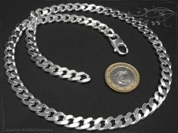 Panzerkette B8.0L100 massiv 925 Sterling Silber