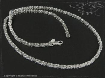 Königskette B3.5L50 massiv 925 Sterling Silber