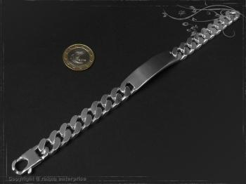 ID Panzerarmband Gravur-Platte B12.5L21 massiv Keramik - Edelstahl