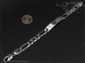 ID Figaroarmband Gravur-Platte B10.0L21 massiv Keramik - Edelstahl