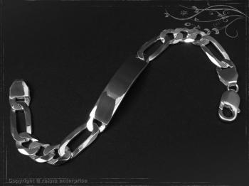ID Figaroarmband Gravur-Platte B10.0L23 massiv Keramik - Edelstahl