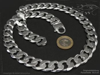 Panzerkette B16.0L90 massiv 925 Sterling Silber