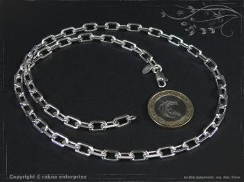 Ankerkette B5.5L100 massiv 925 Sterling Silber