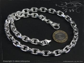 Ankerkette B8.0L100 massiv 925 Sterling Silber