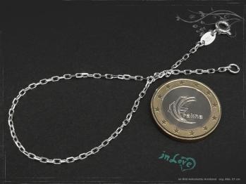 Ankerkette Armband B1.7L17 massiv 925 Sterling Silber