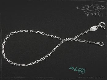Ankerkette Armband B1.7L24 massiv 925 Sterling Silber