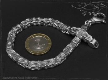 Königskette Armband B6.0L25 massiv 925 Sterling Silber