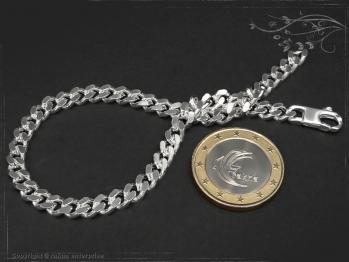 Panzerarmband B5.0L25 massiv 925 Sterling Silber