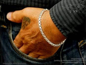 Silberkette Armband Venezia Ru B5.3L21 massiv 925 Sterling Silber