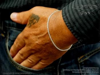 Silberkette Armband Venezia Ru B2.7L21 massiv 925 Sterling Silber