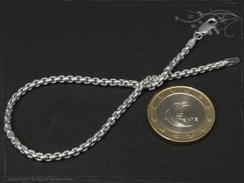 Silberkette Armband Venezia Ru B2.7L25 massiv 925 Sterling Silber