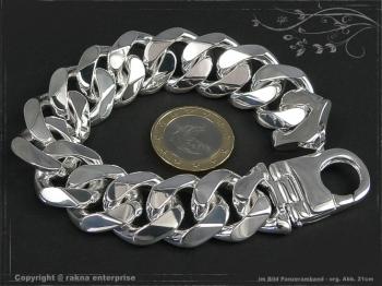 Panzerarmband Extra Breit B19.0L23 massiv 925 Sterling Silber