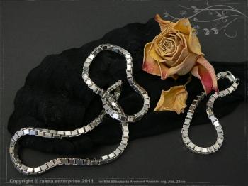 Silberkette Armband Venezia B4.5L18 massiv 925 Sterling Silber
