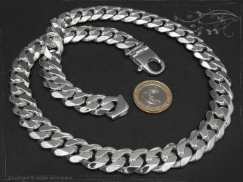 Panzerkette B14.0L100 massiv 925 Sterling Silber