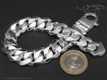 Panzerarmband B14.0L19 massiv 925 Sterling Silber
