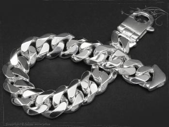 Panzerarmband B14.0L23 massiv 925 Sterling Silber