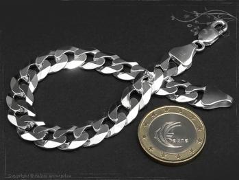 Panzerarmband B10.0L24 massiv 925 Sterling Silber
