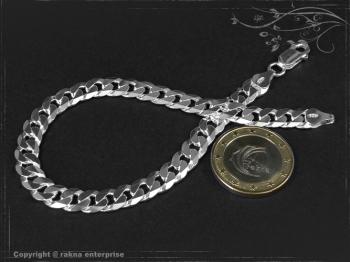 Panzerarmband B7.5L23 massiv 925 Sterling Silber
