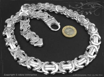 Königskette Flach B17.0L100 massiv 925 Sterling Silber