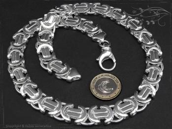 Königskette Flach B14.0L85 massiv 925 Sterling Silber