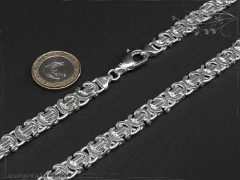 Königskette Flach B9.0L45 massiv 925 Sterling Silber