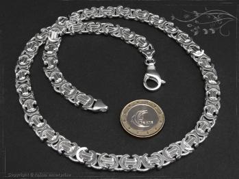 Königskette Flach B9.0L90 massiv 925 Sterling Silber