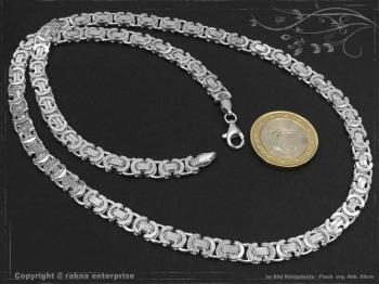 Königskette Flach B6.0L60 massiv 925 Sterling Silber