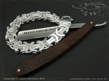 Königskette Armband Flach B17.0L23 massiv 925 Sterling Silber