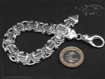 Königskette Armband Flach B11.0L18 massiv 925 Sterling Silber