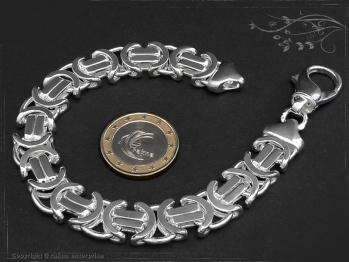 Königskette Armband Flach B11.0L22 massiv 925 Sterling Silber