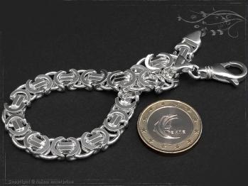 Königskette Armband Flach B9.0L18 massiv 925 Sterling Silber