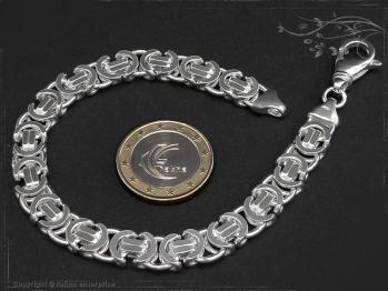 Königskette Armband Flach B9.0L21 massiv 925 Sterling Silber