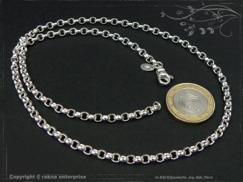 Silberkette Erbsenkette B4.0L80 massiv 925 Sterling Silber