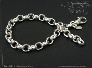 Silberkette Erbsenkette Armband B7.0L19 massiv 925 Sterling Silber
