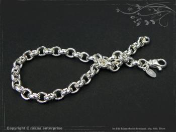 Silberkette Erbsenkette Armband B5.5L17 massiv 925 Sterling Silber